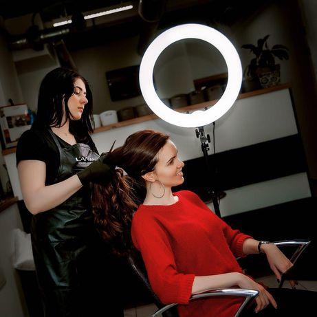 Лампа кольцевая профессиональная мощная визаж, тату, мейкап, блог