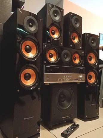 Kino Domowe Amplituner Yamaha Kolumny Pure Acoustics Sub Wharfedale