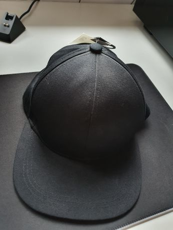 czapka z daszkiem czarna h&m