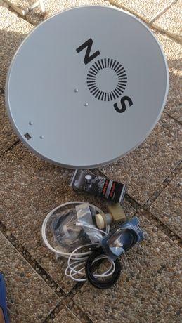 Antena parabólica nunca foi usada.
