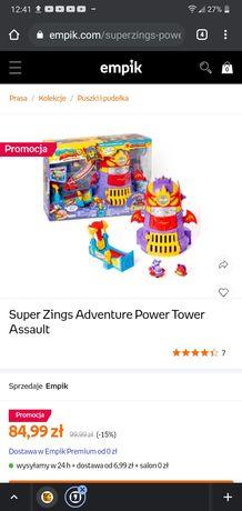 Super zings wyrzutnia wieza wiezienie