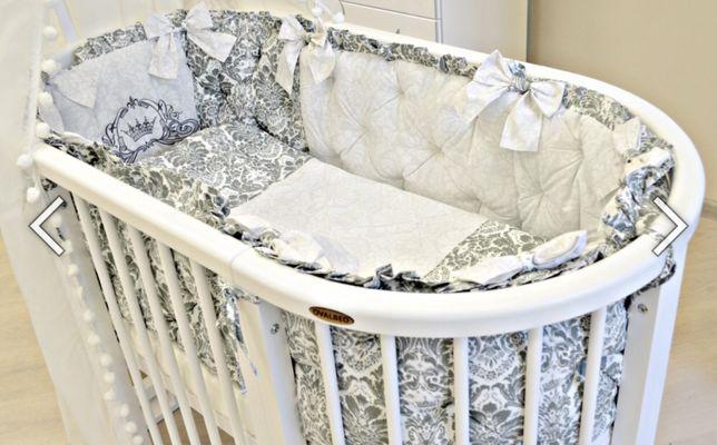 Ovalbed с бортами Овальная круглая кровать на колесах деревянная