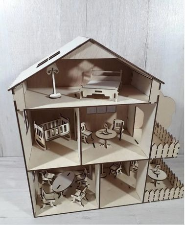 Ляльковий будиночок Кукольный деревянный домик Ляльковий дім
