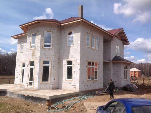 Строительство домов под ключ. Кладка облицовочного кирпича, газоблока.
