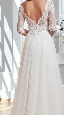 Suknia ślubna Marcelina 38 M koronka tiul