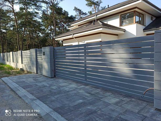 Brama, ogrodzenie, balustrada, konstrukcje stalowe.