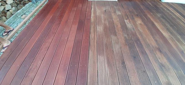Renowacja - czyszczenie - olejowanie tarasów drewnianych