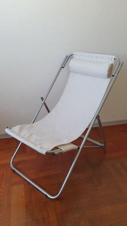 Krzesło ogrodowe, plażowe leżak z poduszką