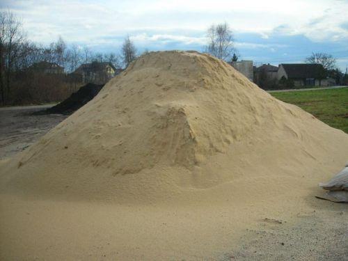 Piasek Dziergowice żółty do murowania piaskownicy cement wapno żwir