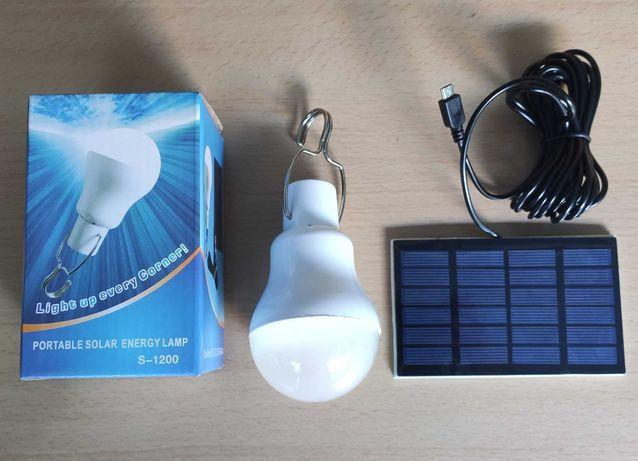 Lampada Com Painel Solar