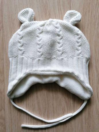 Ciepła Czapka niemowlęca 74 cm dziewczynka