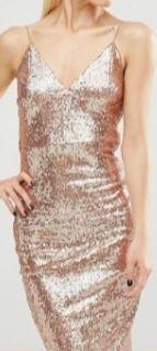sukienka koktajlowa weselna cekiny ramiączka Club L 38 40