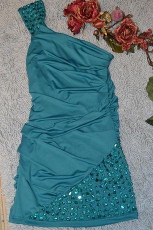 Платье вечернее со стразами