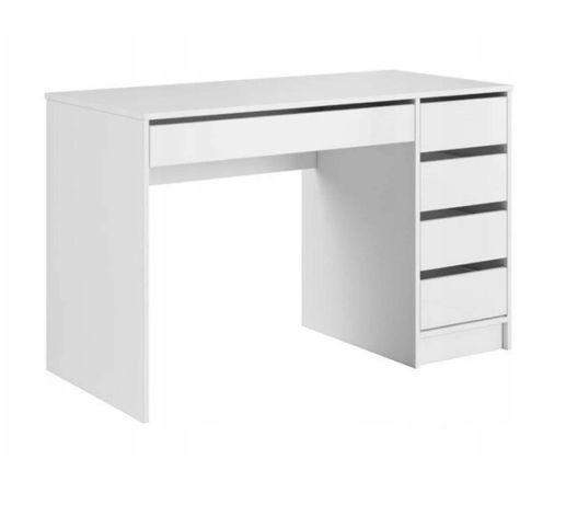 Biurko - toaletka biały mat z szufladami 120 x 55 NOWOŚĆ Prawe / Lewe