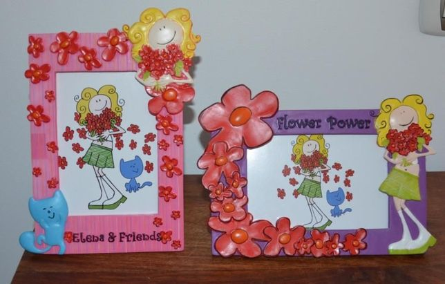 Moldura Menina – Flower Power – Fotos 10 x 15 cm – 2 modelos