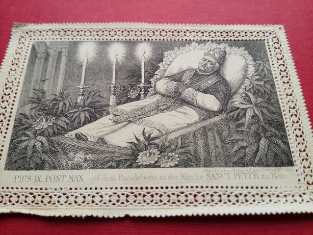 Holy card PIUS IX PONT. Святая карта. 1880 гг.