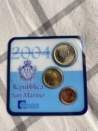 Set de moedas san marino euro 2004 sao marino repupblica di euros