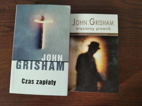 """Książki John Grisham """"Więzienny prawnik"""", """"Czas zapaty"""""""