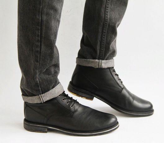 кожаные демисезонные ботинки TopMan