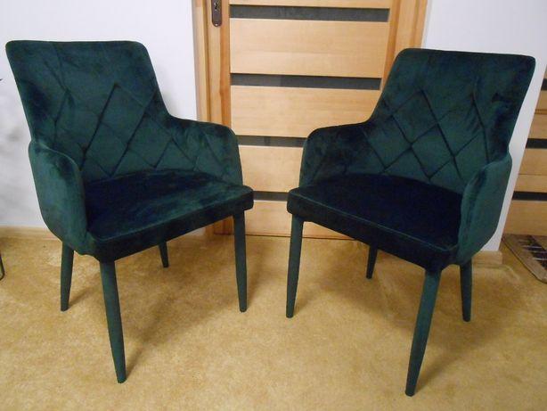 krzesło fotel WELUR zielone z ekspozycji OKAZJA i inne kolory