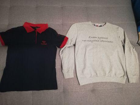 Koszulka hummel + gratis sweterek rozmiar 152