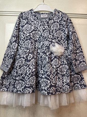 Элегантное платье двунитка Breeze Турция размер 80
