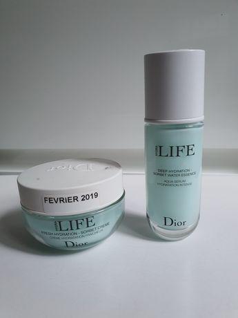 Крем-сорбет и сыворотка для лица Dior Hydra LIFE