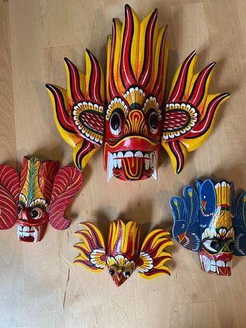 Maski zestaw, Sri Lanka na ścianę - oryginalne maski ze Sri Lanki