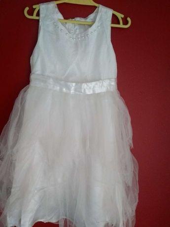 Biała sukienka Cool Club z tiulem r. 128