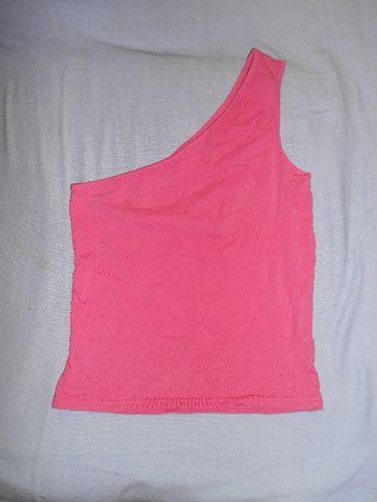 Różowa Bluzka Na jedno ramie XS, S