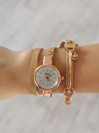 Nowy zegarek zawijany pasek kolor  złoty