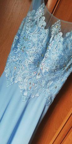 Sukienka długa rozmiar 36, błękit