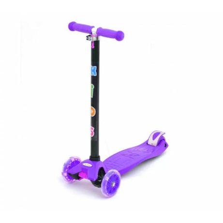 Детский трехколесный самокат iTrike BB 3-013-4-H фиолетовый
