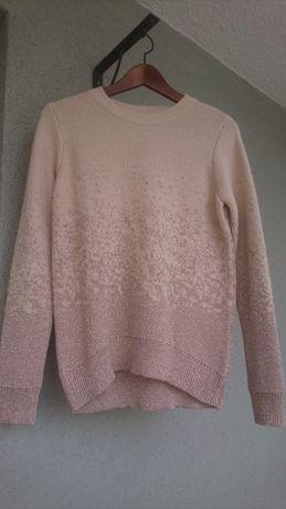 Śliczny damski sweter błyszcząca nitka H&M