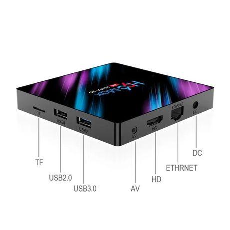 Приставка TV-BOX Смарт ТВ бокс Андроид 4Gb/64GB Блютуз H96 MAX+