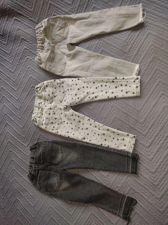 Spodnie dziewczęce 98