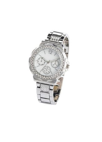 Женские часы с кристаллами Swarovski.