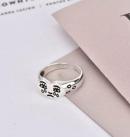 плачущий смайлик кольцо винтажное