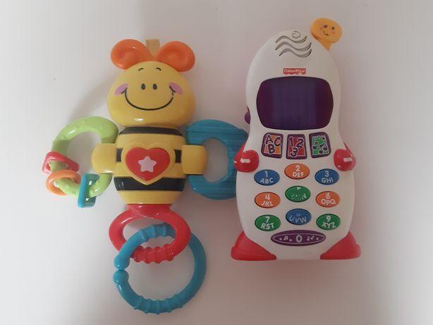 Fisher Price telefon komorkowy+pszczółka