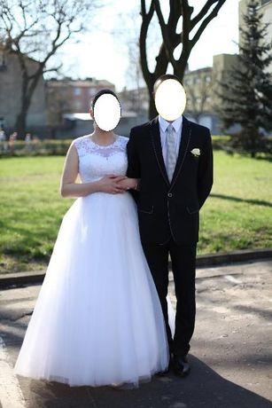 Suknia ślubna typu Princess biała