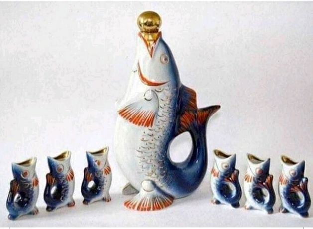 Фарфоровые рыбки-рюмки