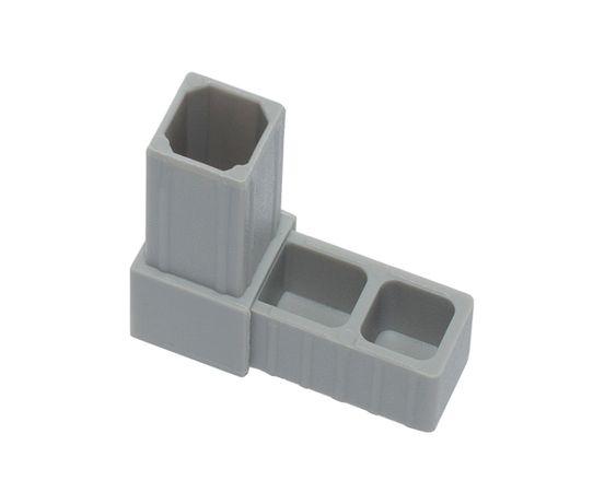 Угловой соединитель для алюминиевого профиля 20 х 20 х 1,5 мм .