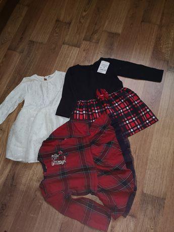 Sukienki, bluzki, spodnie, bluzy paka 86 sztuk 86-92 dla dziewczynki