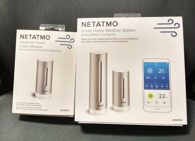 Stacja pogodowa Netatmo + dodatkowy czujnik do drugiego pomieszczenia