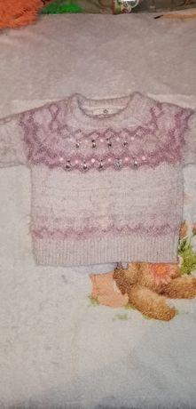 Тёплый свитер на девочку
