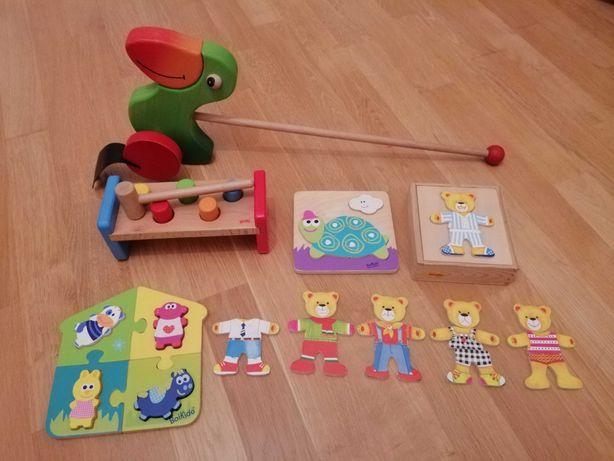 Zabawki drewniane, puzzle drewniane, Goki, Boikido