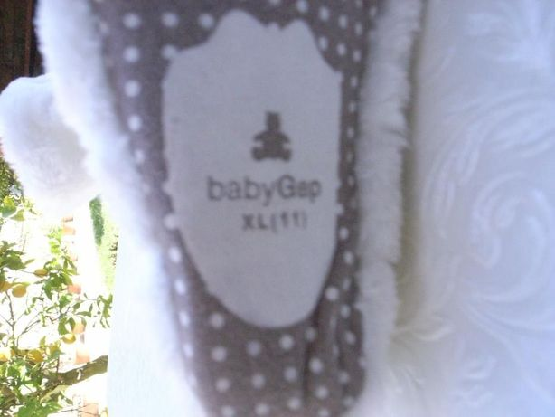 pantufas baby gap xl 11