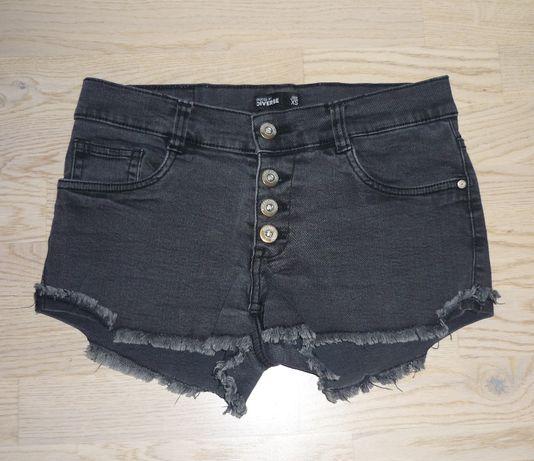 Szare krótkie jeansowe spodenki Diverse XS/S szorty