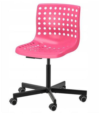 IKEA SKALBERG Krzesło obrotowe Różowy/ Czarny
