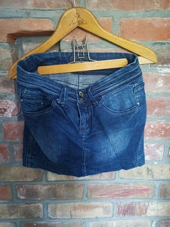 Jeansowa dzinsowa mini spodniczka S Wyprzedaż szafy